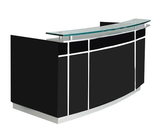 Mostrador gerencial con vidrio